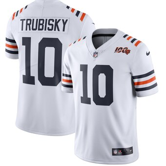 Men's Chicago Bears Mitchell Trubisky Nike White 2019 100th Season Alternate Classic Limited Jersey