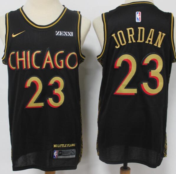 Men's Chicago Bulls #23 Michael Jordan NEW Black Nike 2021 Swingman City Edition Jersey