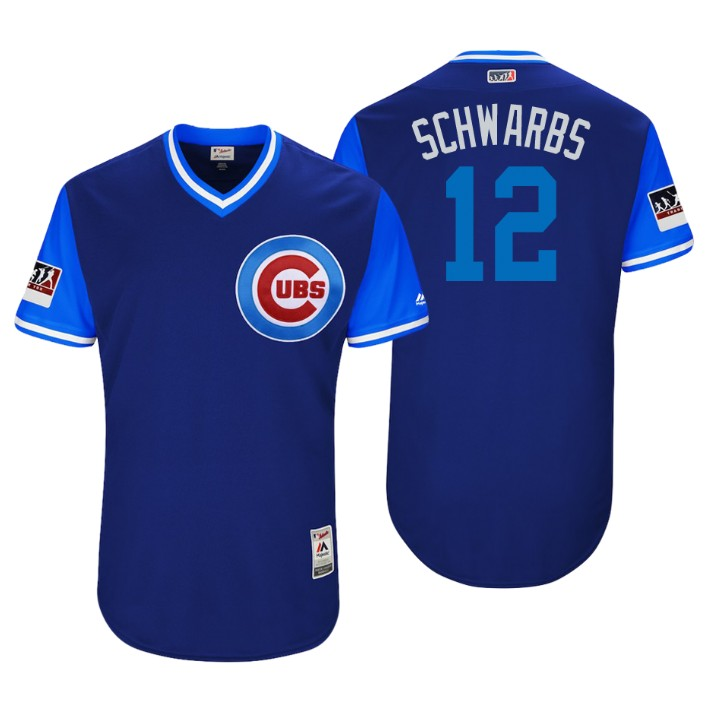 Men's Chicago Cubs Authentic Kyle Schwarber #12 Royal 2018 LLWS Players Weekend Schwarbs Jersey
