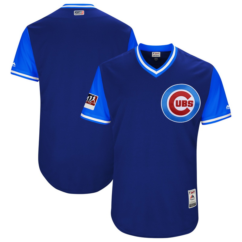 Men's Chicago Cubs Majestic Royal-Light Blue 2018 Players' Weekend Authentic Team Jersey