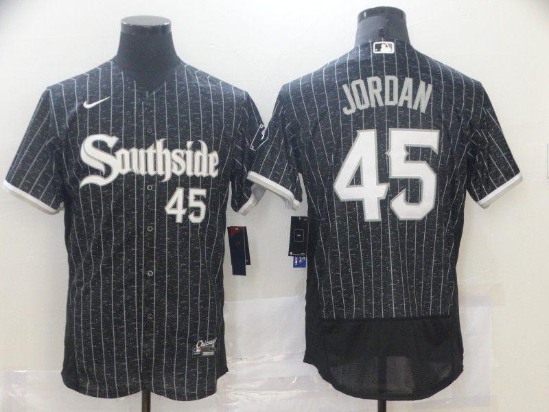 Men's Chicago White Sox #45 Michael Jordan Black 2021 City Connect Stitched MLB Flex Base Nike Jersey