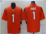 Men's Cincinnati Bengals #1 Ja'Marr Chase 2021 Orange Vapor Untouchable Limited Stitched NFL Jersey
