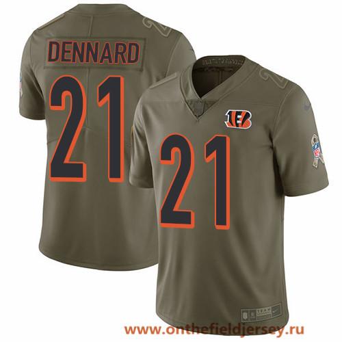 Men's Cincinnati Bengals #21 Darqueze Dennard Olive 2017 Salute To Service Stitched NFL Nike Limited Jersey