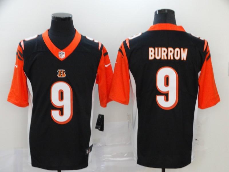 Men's Cincinnati Bengals #9 Joe Burrow Black 2020 Vapor Untouchable Stitched NFL Nike Limited Jersey