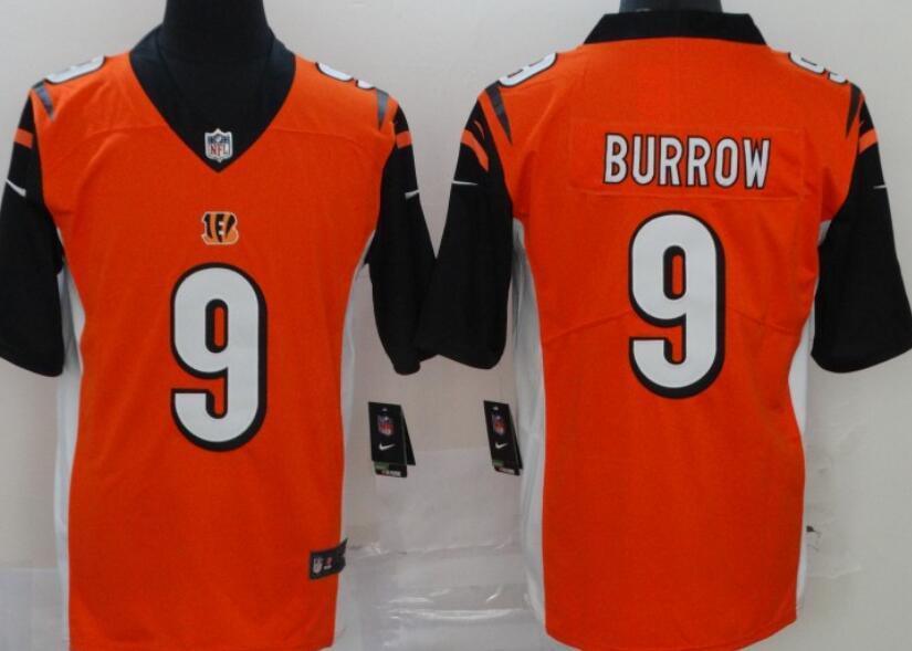 Men's Cincinnati Bengals #9 Joe Burrow Orange 2020 Vapor Untouchable Stitched NFL Nike Limited Jersey