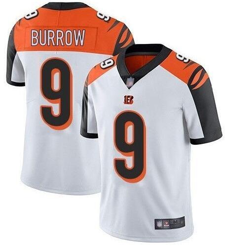 Men's Cincinnati Bengals #9 Joe Burrow White 2020 Vapor Untouchable Stitched NFL Nike Limited Jersey