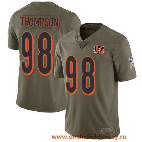 Men's Cincinnati Bengals #98 Brandon Thompson Olive 2017 Salute To Service Stitched NFL Nike Limited Jersey