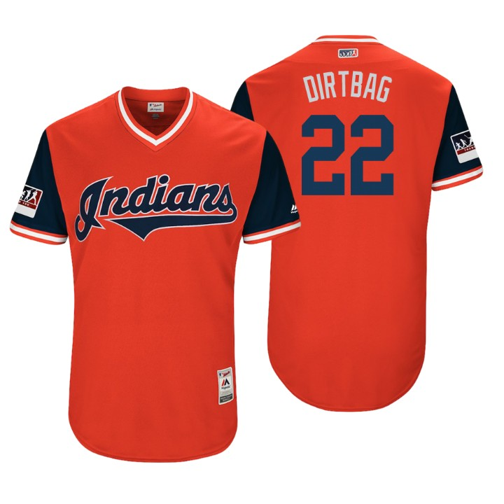 Men's Cleveland Indians Authentic Jason Kipnis #22 Red 2018 LLWS Players Weekend Dirtbag Jersey