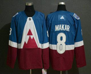 Men's Colorado Avalanche #8 Cale Makar Blue 2020 Stadium Series Adidas Stitched NHL Jersey