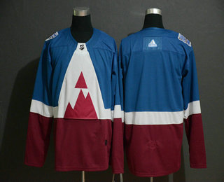 Men's Colorado Avalanche Blank Blue 2020 Stadium Series Adidas Stitched NHL Jersey