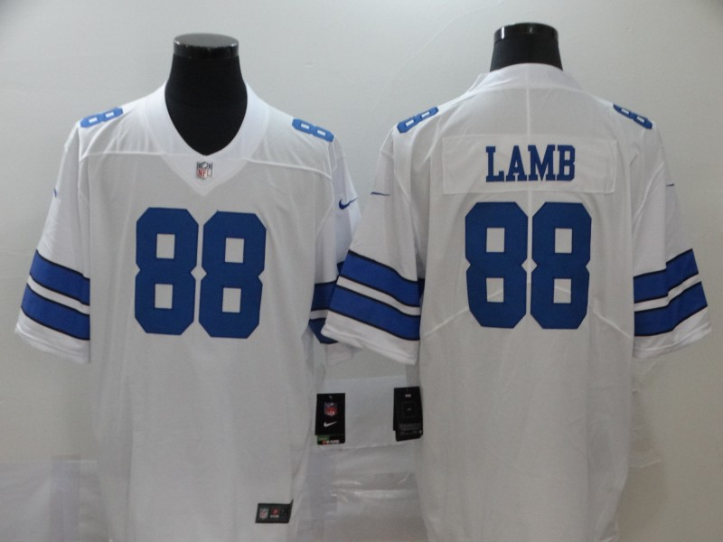 Men's Dallas Cowboys #88 CeeDee Lamb White 2020 NEW Vapor Untouchable Stitched NFL Nike Limited Jersey