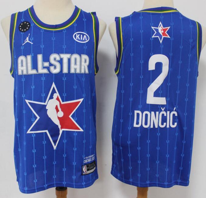 Men's Dallas Mavericks #2 Luka Doncic Blue Jordan Brand 2020 All-Star Game Swingman Stitched NBA Jersey