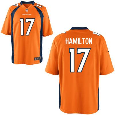 Men's Denver Broncos #17 DaeSean Hamilton Orange Team Color Stitched NFL Nike Game Jersey