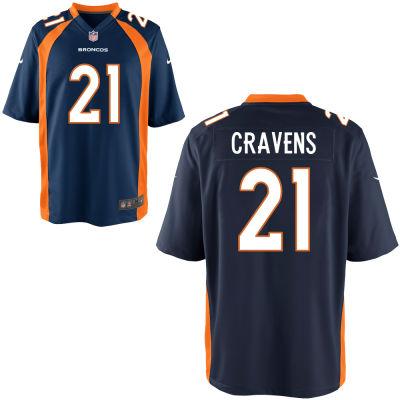 Men's Denver Broncos #21 Su'a Cravens Navy Blue Alternate Stitched NFL Nike Game Jersey