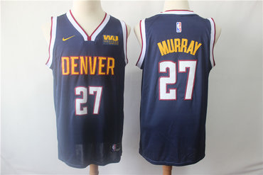 Men's Denver Nuggets 27 Jamal Murray Navy Blue Nike Swingman Jersey