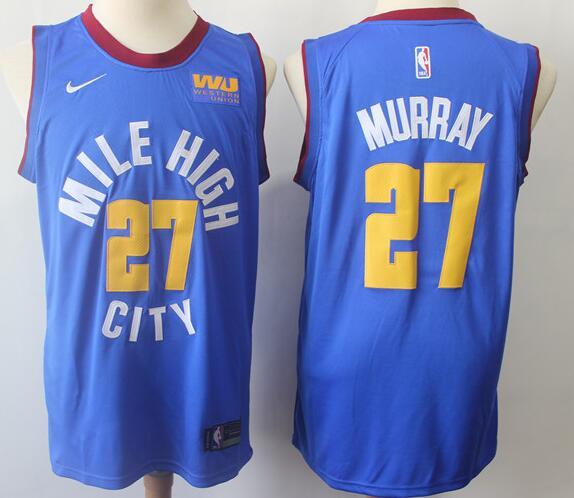 Men's Denver Nuggets 27 Jamal Murray Royal Blue Nike Swingman Jersey