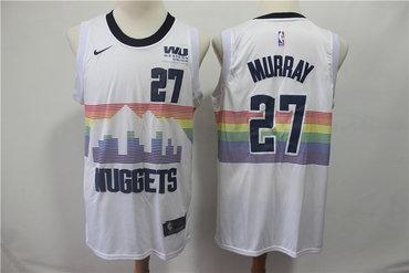 Men's Denver Nuggets 27 Jamal Murray White 2018-19 City Edition Nike Swingman Jersey