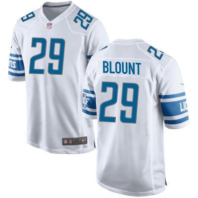 Men's Detroit Lions #29 LeGarrette Blount White Road Stitched NFL Nike Game Jersey