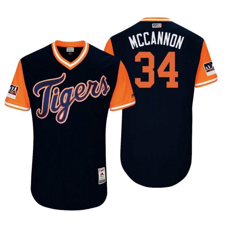 Men's Detroit Tigers Authentic James McCann #34 Navy 2018 LLWS Players Weekend Mccannon Jersey