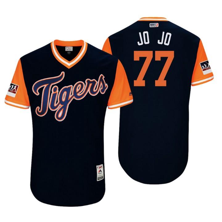 Men's Detroit Tigers Authentic Joe Jimenez #77 Navy 2018 LLWS Players Weekend Jo Jo Jersey
