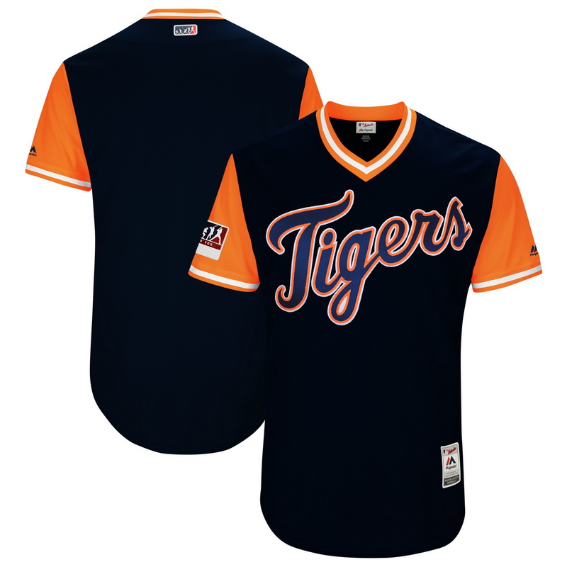 Men's Detroit Tigers Majestic Navy-Orange 2018 Players' Weekend Authentic Team Jersey