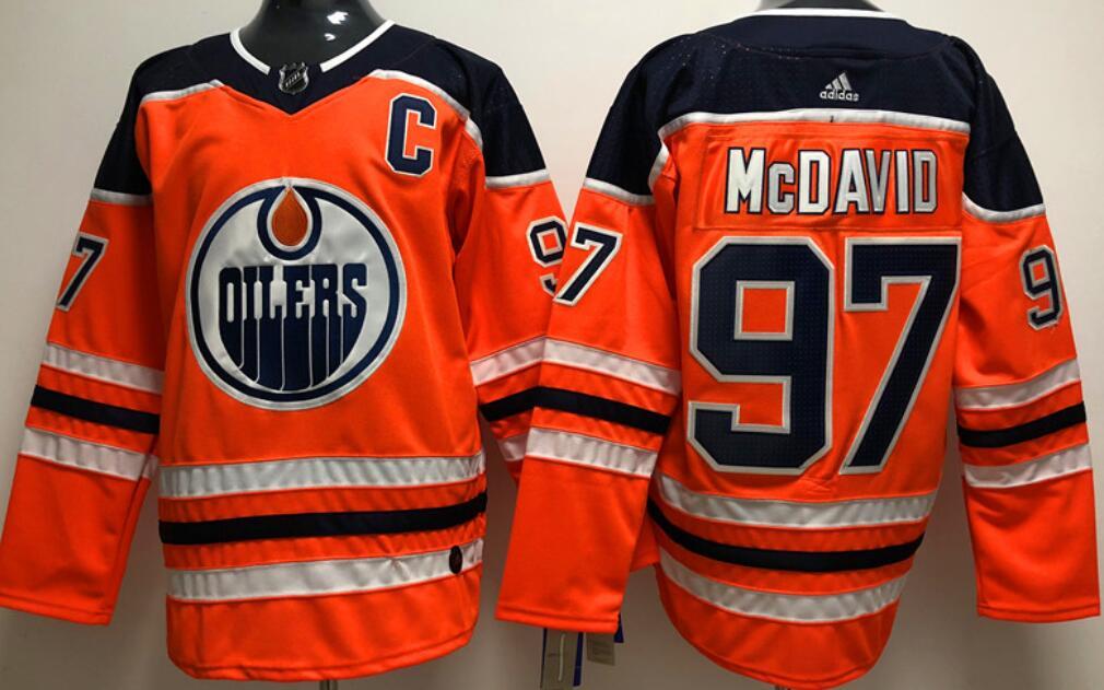 Men's Edmonton Oilers #97 Connor McDavid Orange Home Adidas Stitched NHL Jersey