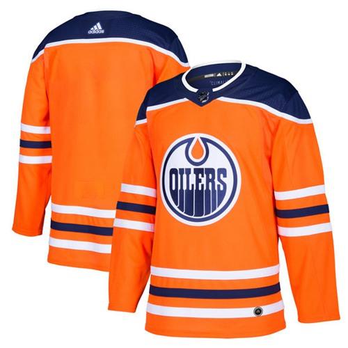 Men's Edmonton Oilers Blank Orange Home Adidas Stitched NHL Jersey