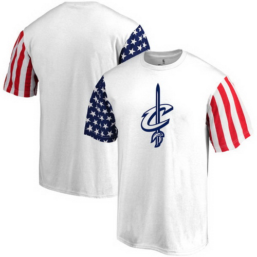 Men's Fanatics Branded White Cleveland Cavaliers Stars and Stripes T-Shirt