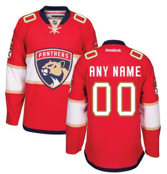 Men's Florida Panthers Reebok Red Home Premier Custom 2016-17 Jersey