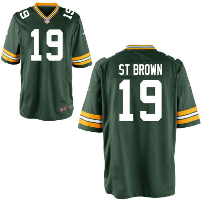 Men's Green Bay Packers #19 Equanimeous St. Brown Green Team Color Stitched NFL Nike Game Jersey