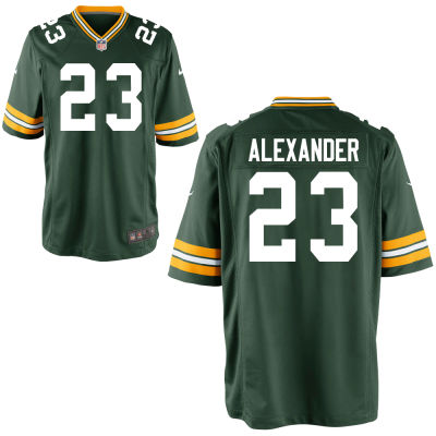 Men's Green Bay Packers #23 Jaire Alexander Green Team Color Stitched NFL Nike Game Jersey