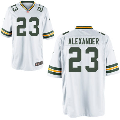 Men's Green Bay Packers #23 Jaire Alexander White Road Stitched NFL Nike Game Jersey