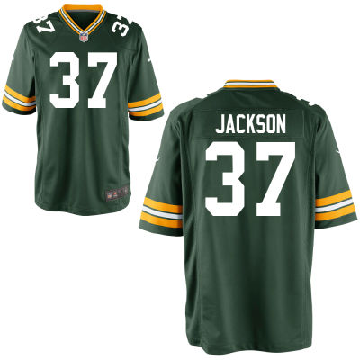 Men's Green Bay Packers #37 Josh Jackson Green Team Color Stitched NFL Nike Game Jersey