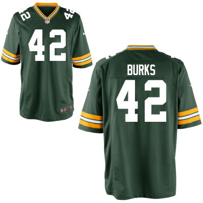 Men's Green Bay Packers #42 Oren Burks Green Team Color Stitched NFL Nike Game Jersey