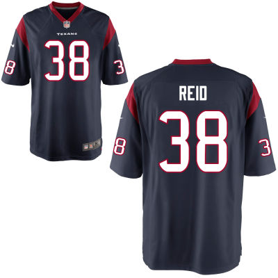 Men's Houston Texans #38 Justin Reid Navy Blue Team Color Stitched NFL Nike Game Jersey