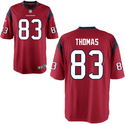 Men's Houston Texans #83 Jordan Thomas Red Alternate Stitched NFL Nike Game Jersey