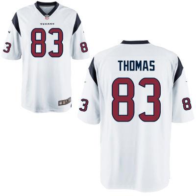 Men's Houston Texans #83 Jordan Thomas White Road Stitched NFL Nike Game Jersey