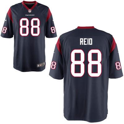 Men's Houston Texans #88 Jordan Akins Navy Blue Team Color Stitched NFL Nike Game Jersey
