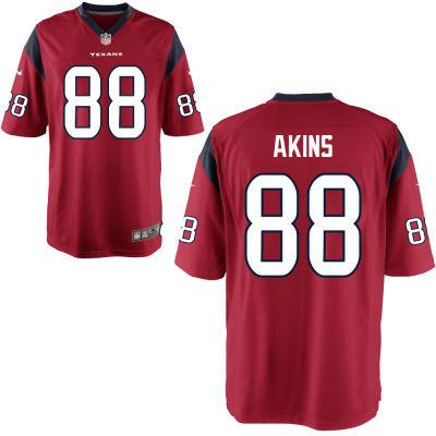 Men's Houston Texans #88 Jordan Akins Red Alternate Stitched NFL Nike Game Jersey