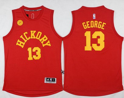Men's Indiana Pacers #13 Paul George Revolution 30 Swingman 2015-16 New Red Jersey