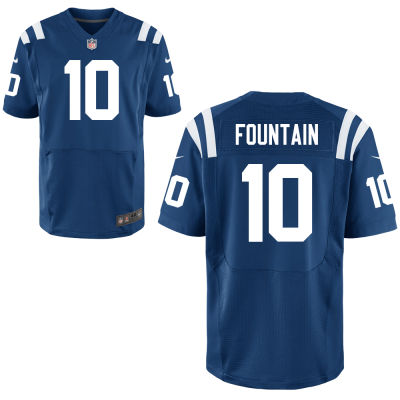 Men's Indianapolis Colts #10 Daurice Fountain Royal Blue Team Color Stitched NFL Nike Elite Jersey