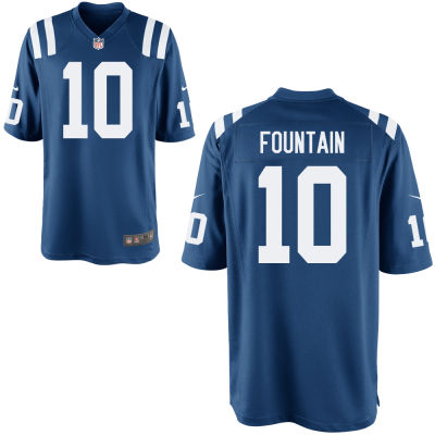 Men's Indianapolis Colts #10 Daurice Fountain Royal Blue Team Color Stitched NFL Nike Game Jersey
