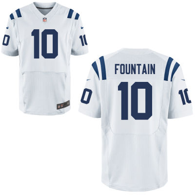 Men's Indianapolis Colts #10 Daurice Fountain White Road Stitched NFL Nike Elite Jersey