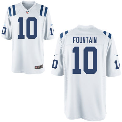 Men's Indianapolis Colts #10 Daurice Fountain White Road Stitched NFL Nike Game Jersey