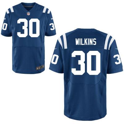 Men's Indianapolis Colts #30 Jordan Wilkins Royal Blue Team Color Stitched NFL Nike Elite Jersey