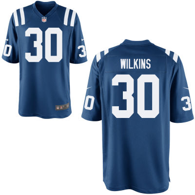 Men's Indianapolis Colts #30 Jordan Wilkins Royal Blue Team Color Stitched NFL Nike Game Jersey