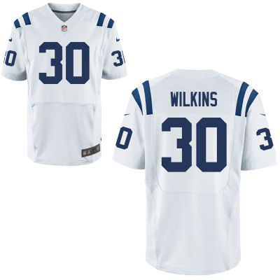 Men's Indianapolis Colts #30 Jordan Wilkins White Road Stitched NFL Nike Elite Jersey