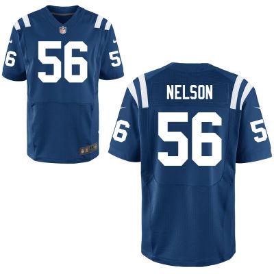 Men's Indianapolis Colts #56 Quenton Nelson Royal Blue Team Color Stitched NFL Nike Elite Jersey