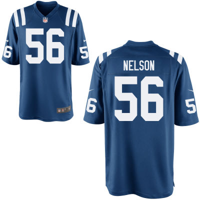 Men's Indianapolis Colts #56 Quenton Nelson Royal Blue Team Color Stitched NFL Nike Game Jersey
