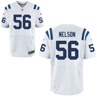 Men's Indianapolis Colts #56 Quenton Nelson White Road Stitched NFL Nike Elite Jersey